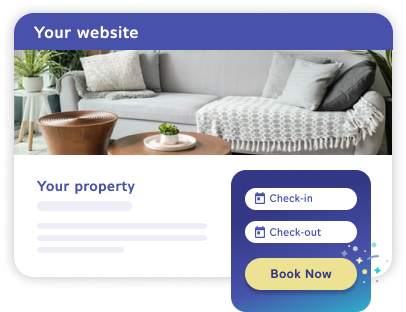 Website being powered by Futurestay's booking engine