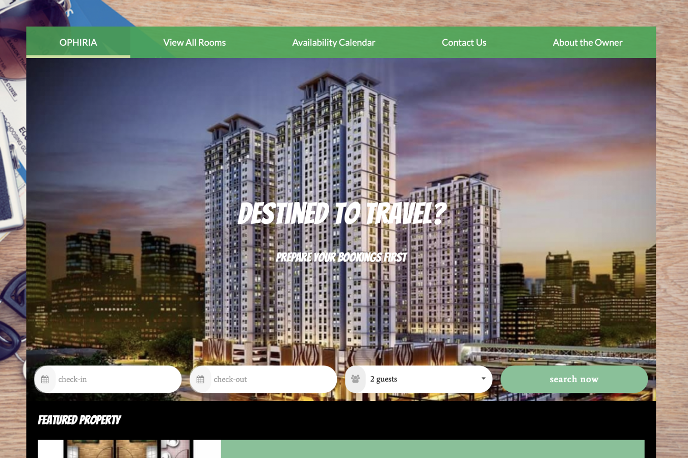 Booking engine website powered by Futurestay