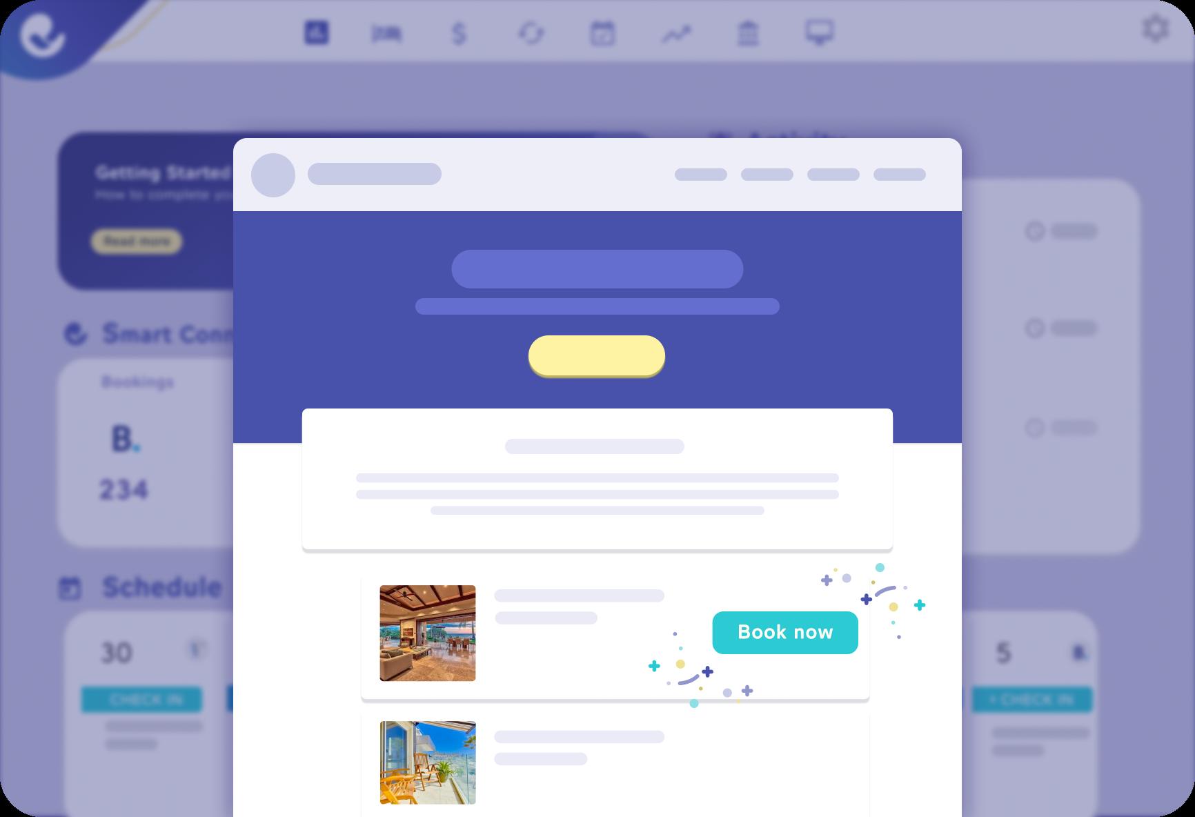 Example of custom website powering direct bookings