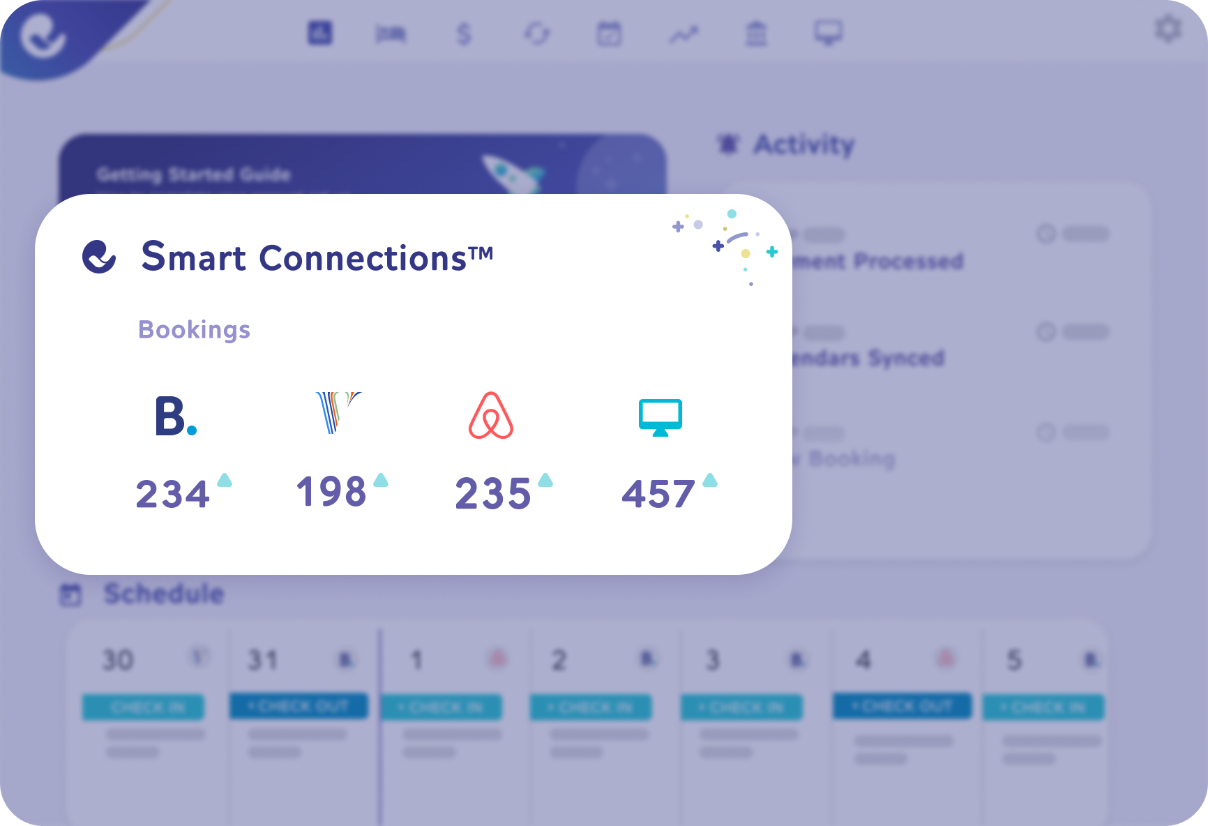 Smart Connections executing rules, payments and communications