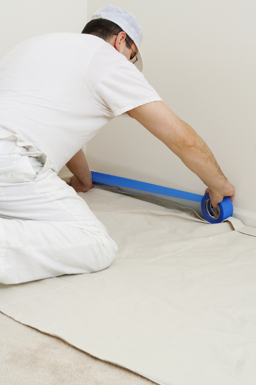 Professional Painters Complete Thorough Prep Work Before Painting