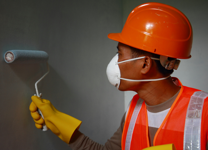 Professional Painters Take Safety Precautions