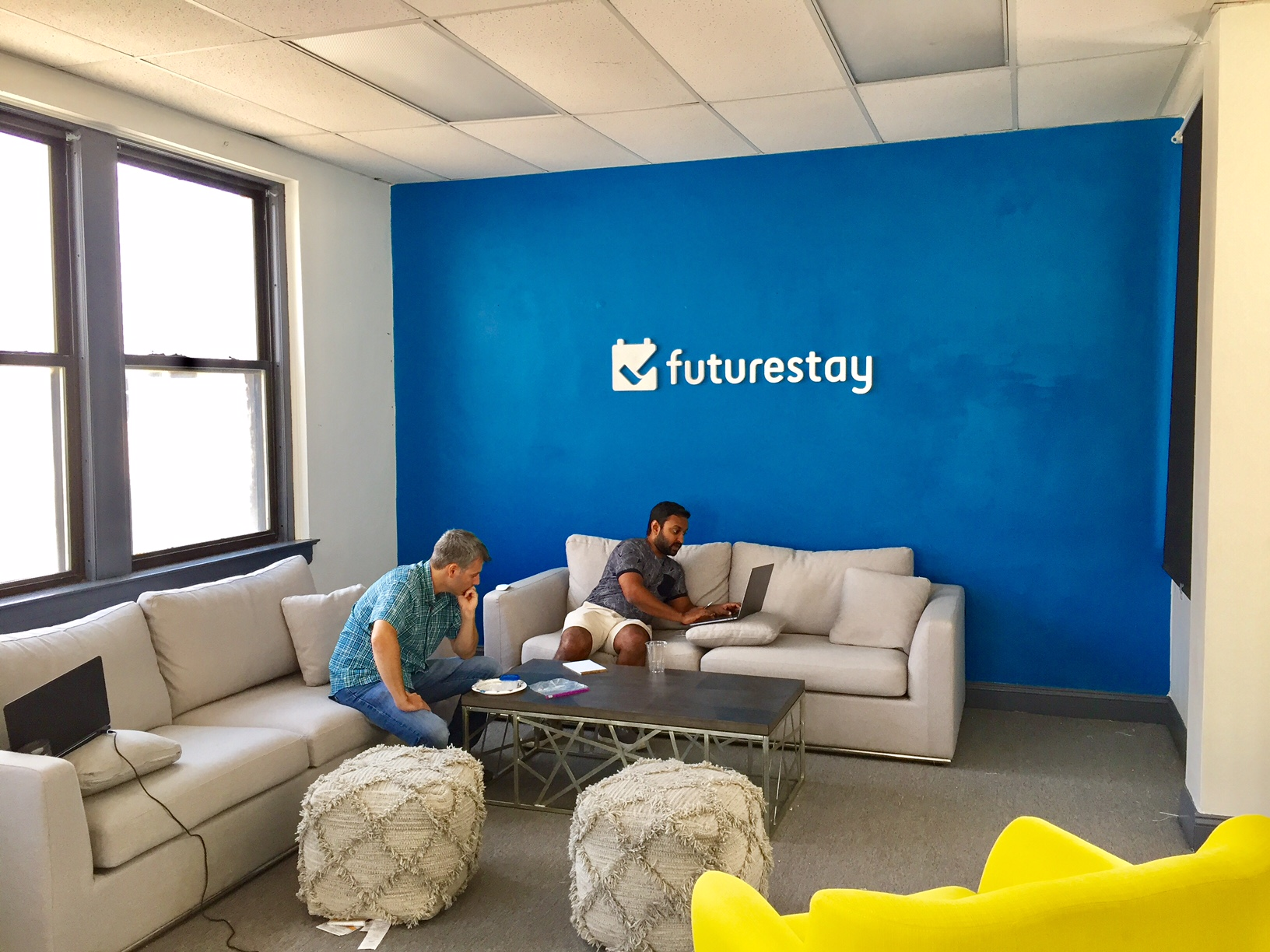 Futurestay Team Working in the Lounge
