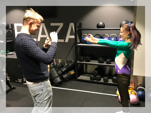 Image of two people playing SuperSquat