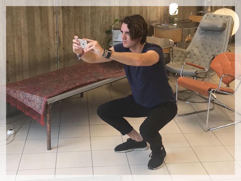 Picture of a person squatting