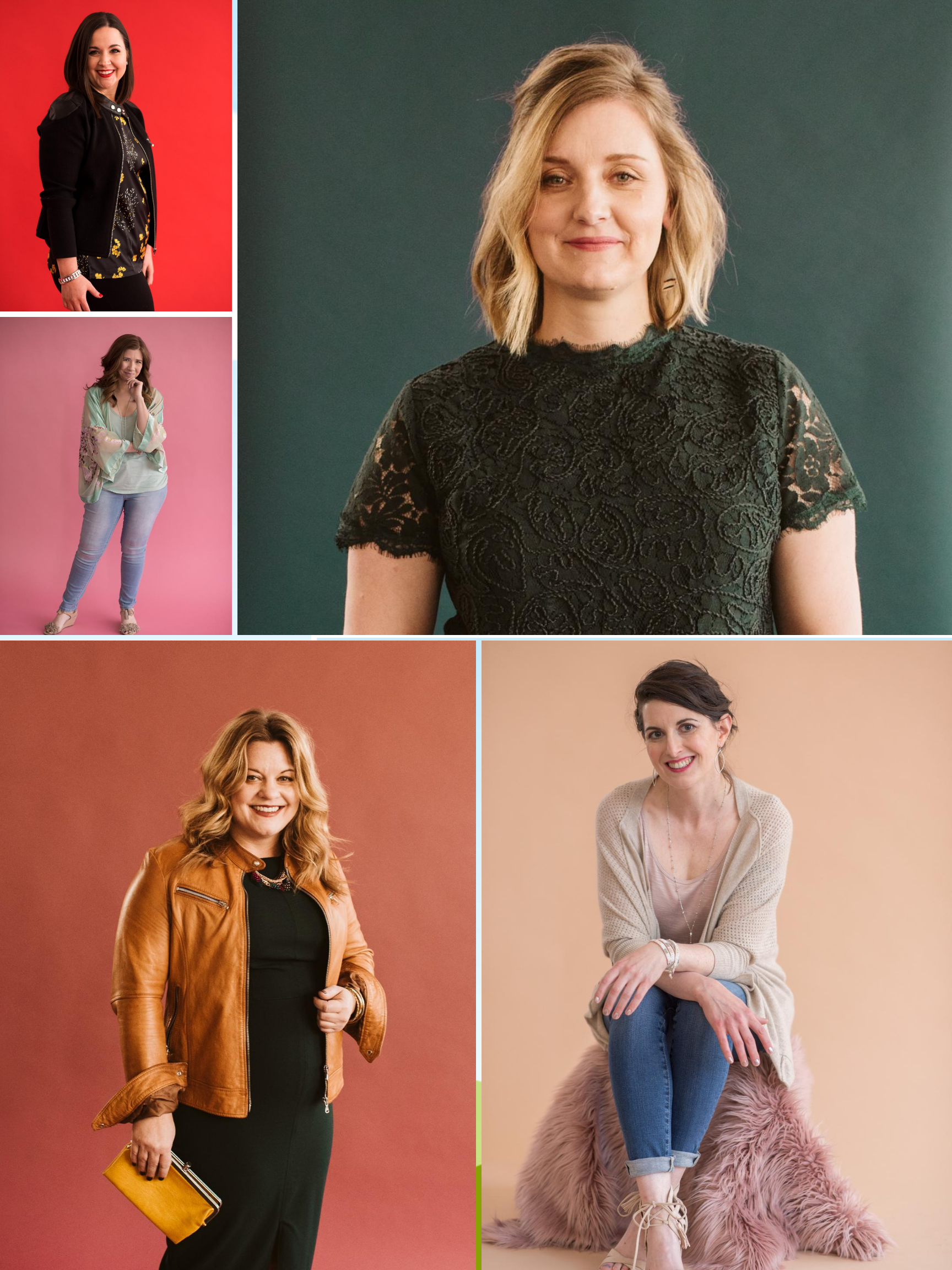 Former Ladybird Personal Styling Clients photographed in KC as a collage