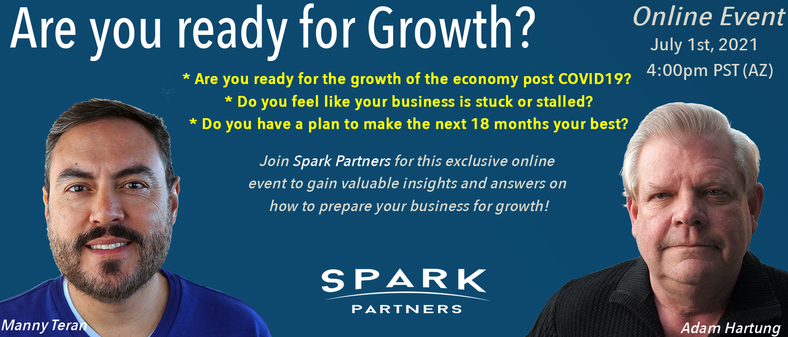 Are you ready for Growth? Online VIP webinar by Spark Partners