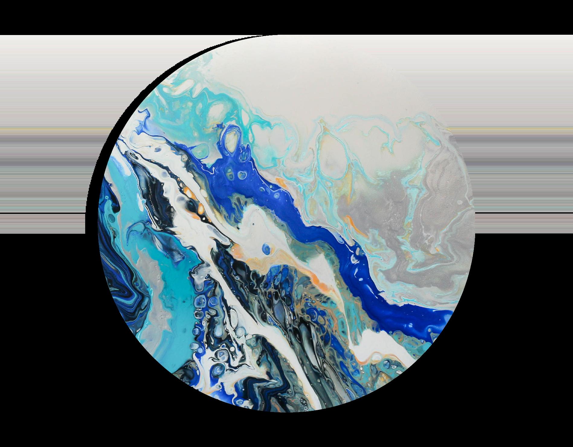Carol Goh : Fluid Acrylic Paintings, Cari (Twopartsofone)