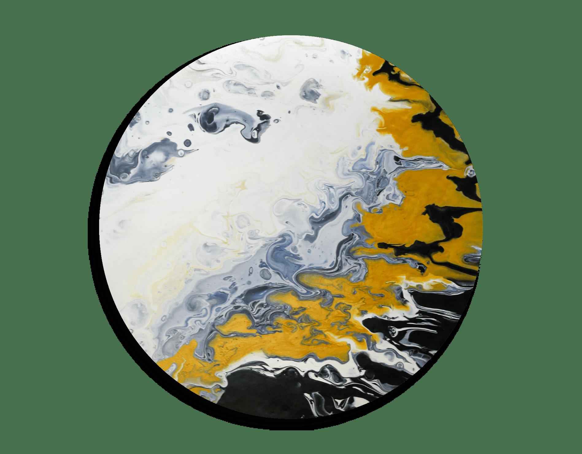 Carol Goh : Fluid Acrylic Paintings, Moon Flow (Twopartsofone)