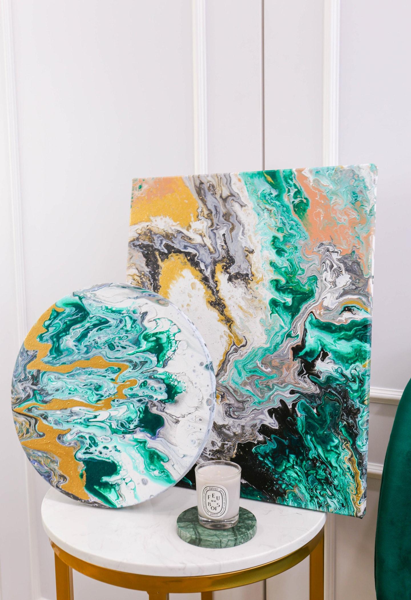 Carol Goh : Fluid Acrylic Paintings, Mera (Twopartsofone)