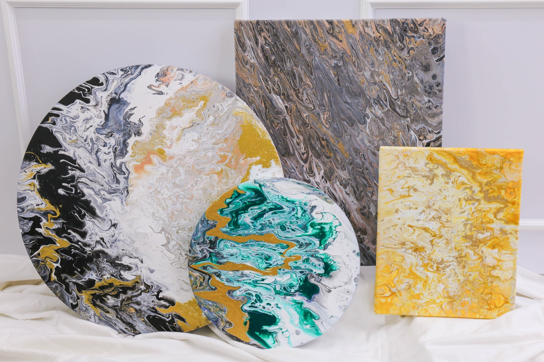 Carol Goh : Fluid Acrylic Paintings (Twopartsofone)