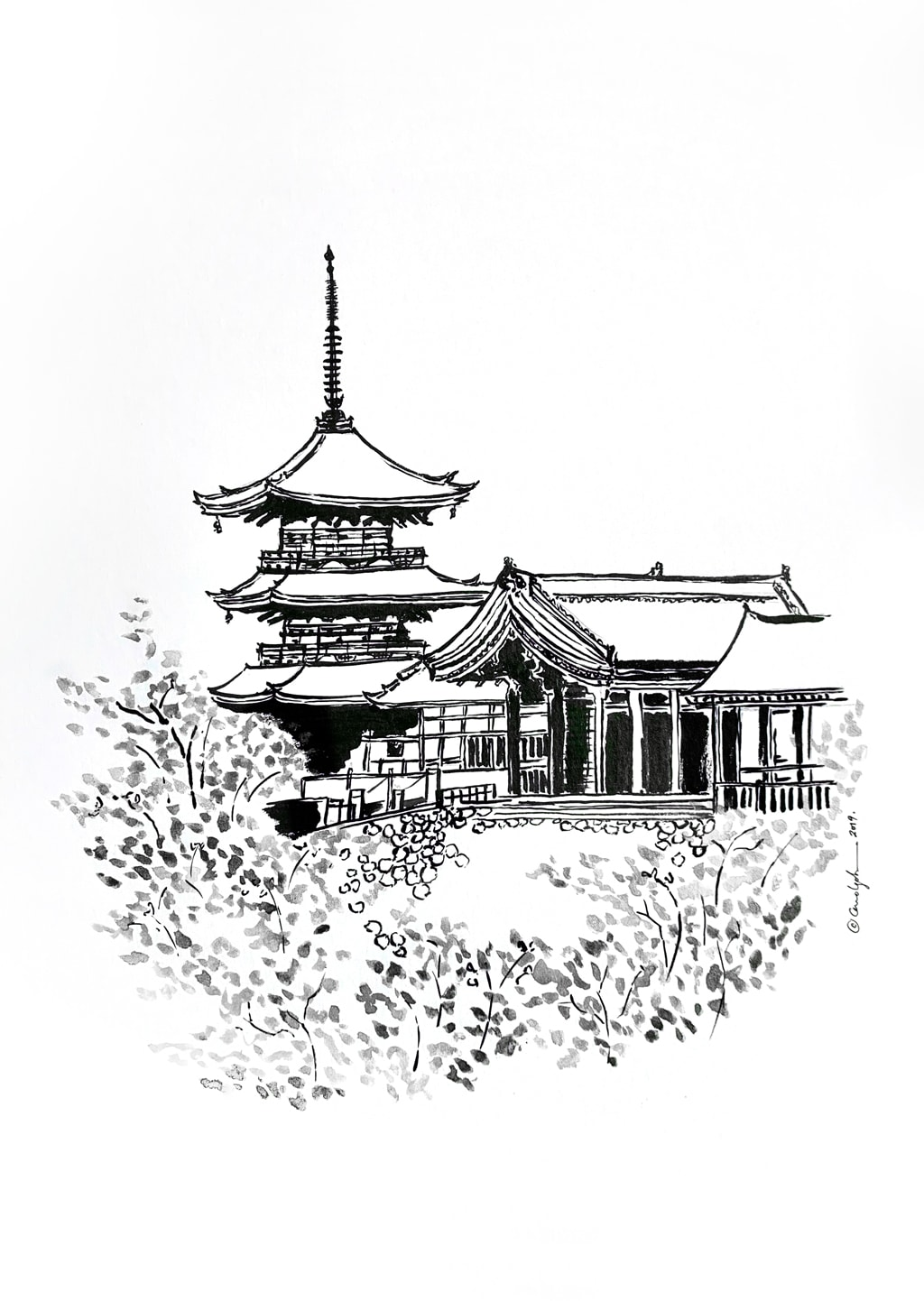 Carol Goh : Kyoto Ink Illustration