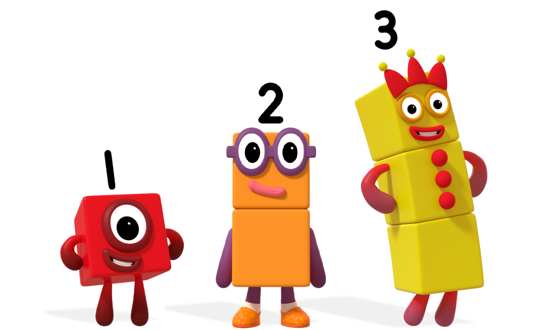 Numberblocks 1, 2 and 3