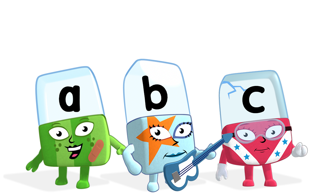 Alphablocks a, b and c