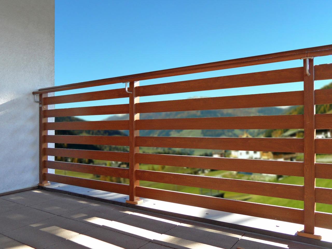 nordic il quadrifoglio balaustre e staccionate pvc alluminio effetto legno