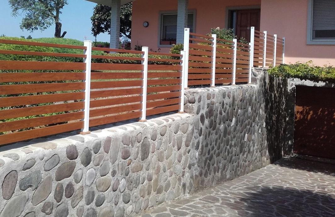 recinzione orizzontale pvc udine