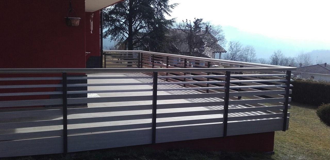 balaustra balcone stile trentino