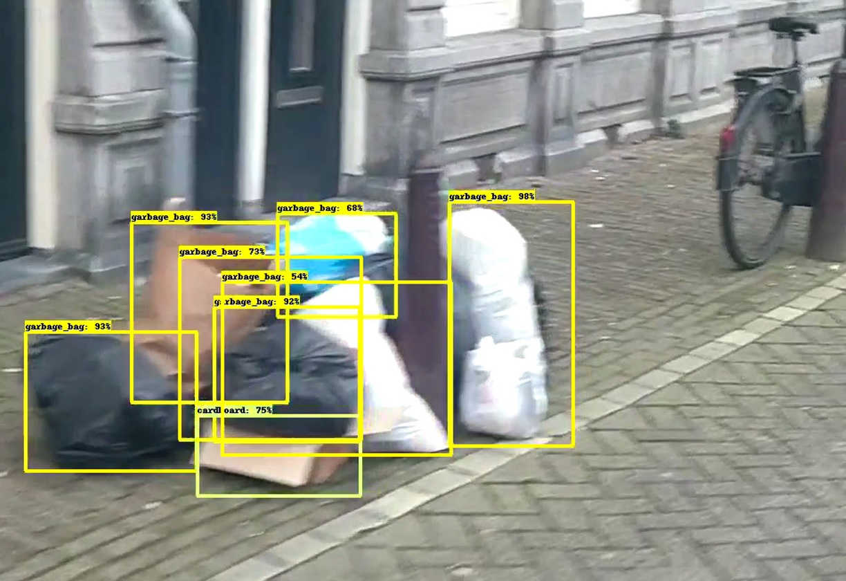 Object recognition of garbage in the streets