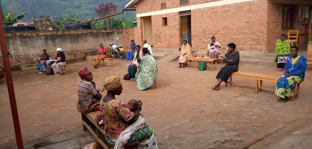 We have instructed health centers, such as this one Nyakigezi, to have patients practice social distancing while waiting.