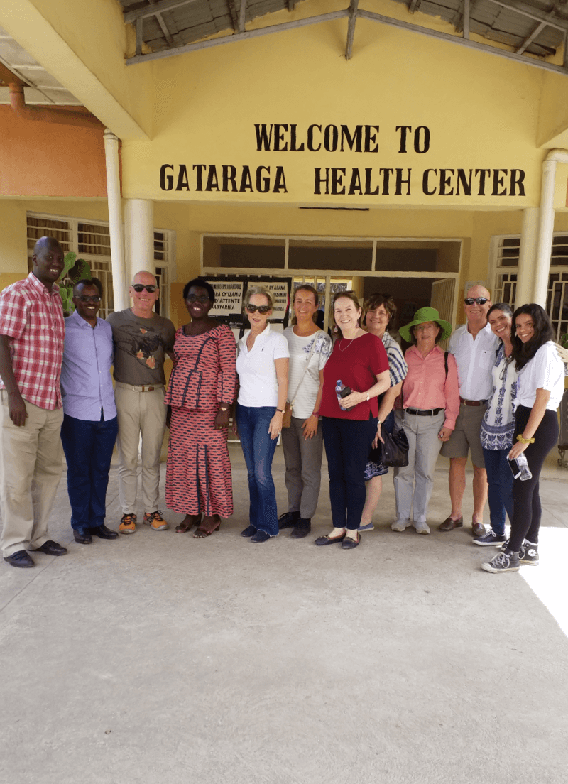 Health Builders leadership team in front of health center