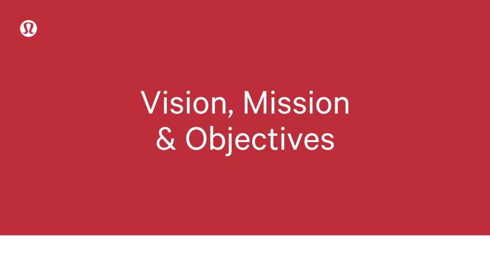Vision, Mission & Objective title slide