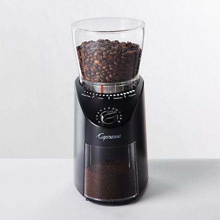 Capresso Infinity Plus Black Conical Burr Grinder | Crate and Barrel