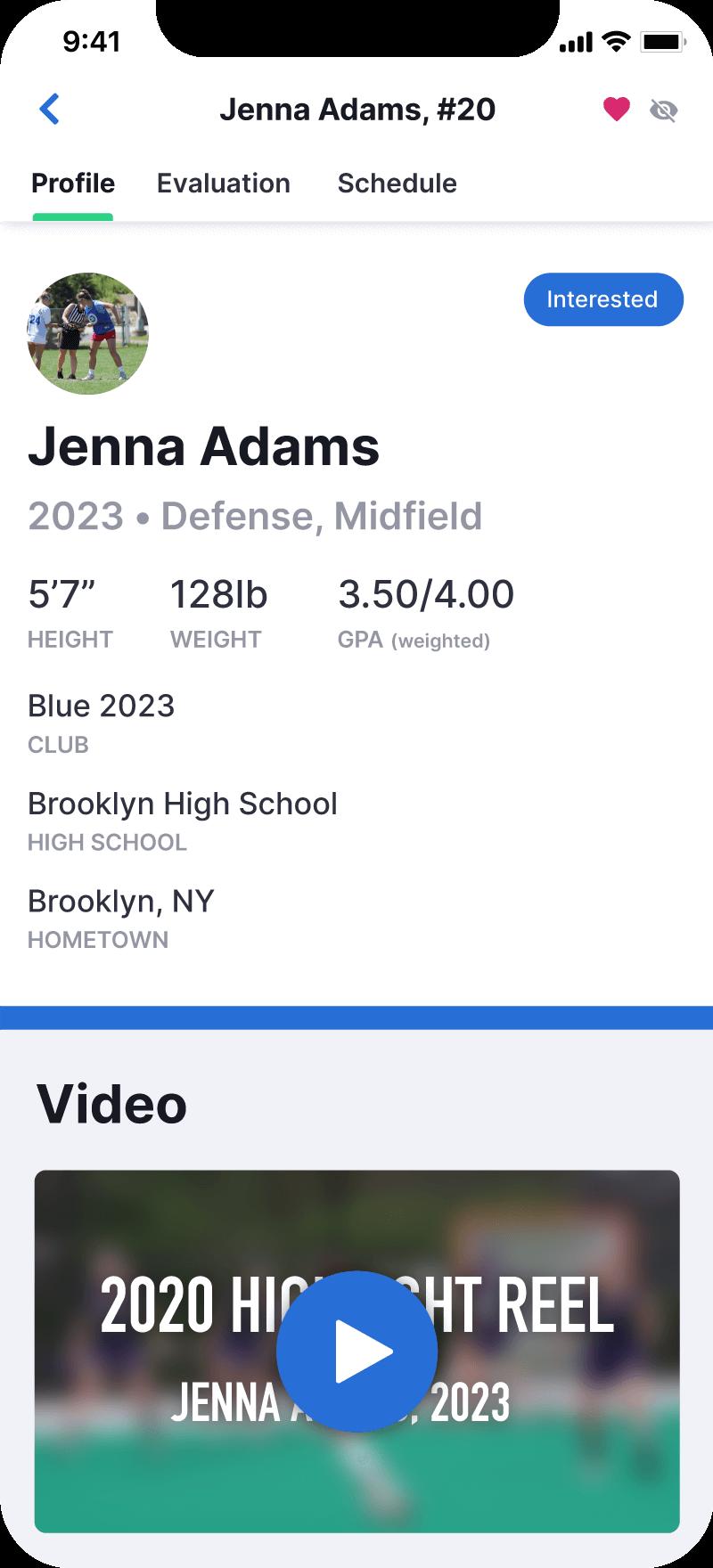 Athlete Profile