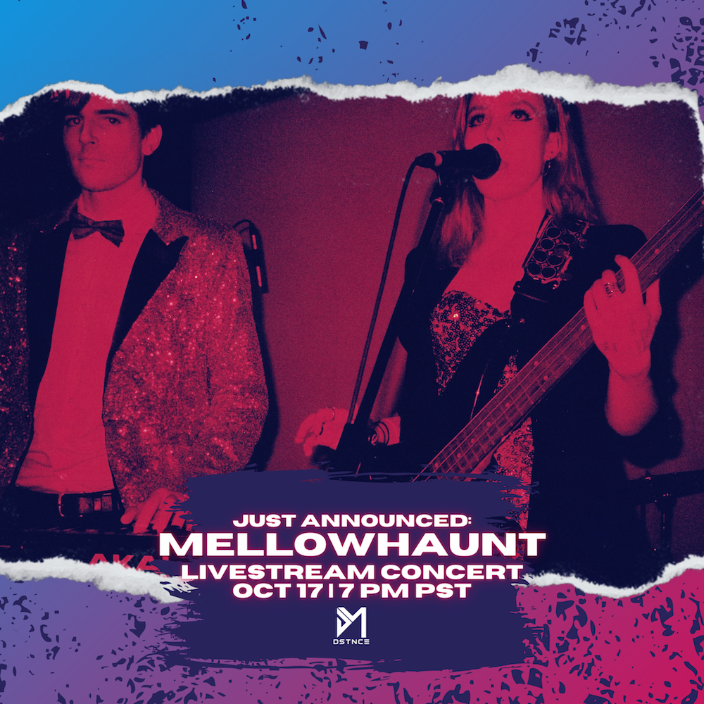Announcing DSTNCE S01, E04:MELLOWHAUNT on October 17!‍ Mellowhaunt is a synthesis of queer producer Matthew DeBeer and genre-bending singer Derya Gwynneth. Born from heartbreak, Mellowhaunt makes music to dance, drive, and cry to - music to remind you that you're human and leave a bittersweet taste on your tongue that leaves you wanting more. Tickets are $10 and are now available for purchase below! Once you've purchased your ticket(s), we will email you a link to the event on the day of.⁠