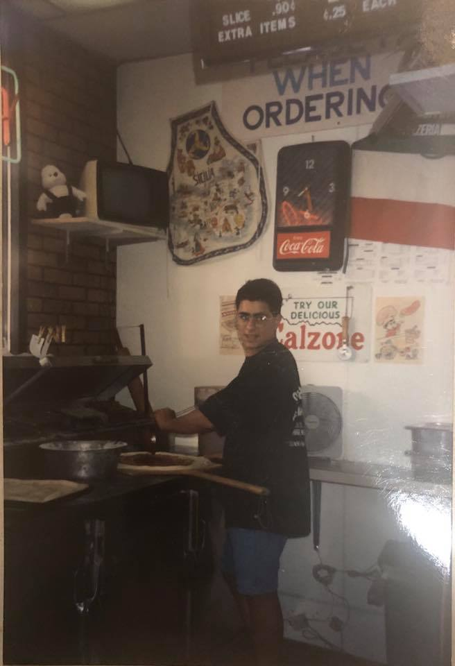 Old Photo Of Pizzeria