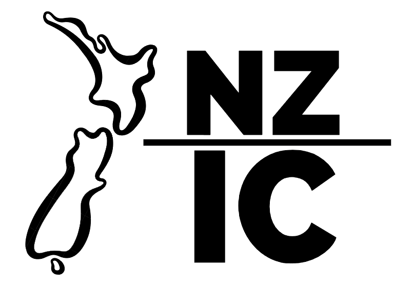 black nzIC logo