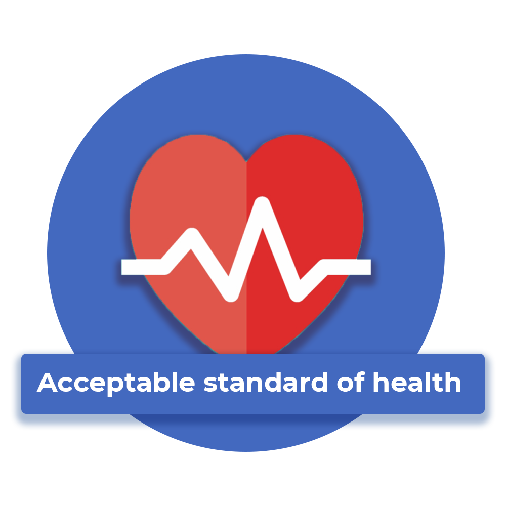 acceptable standard of health