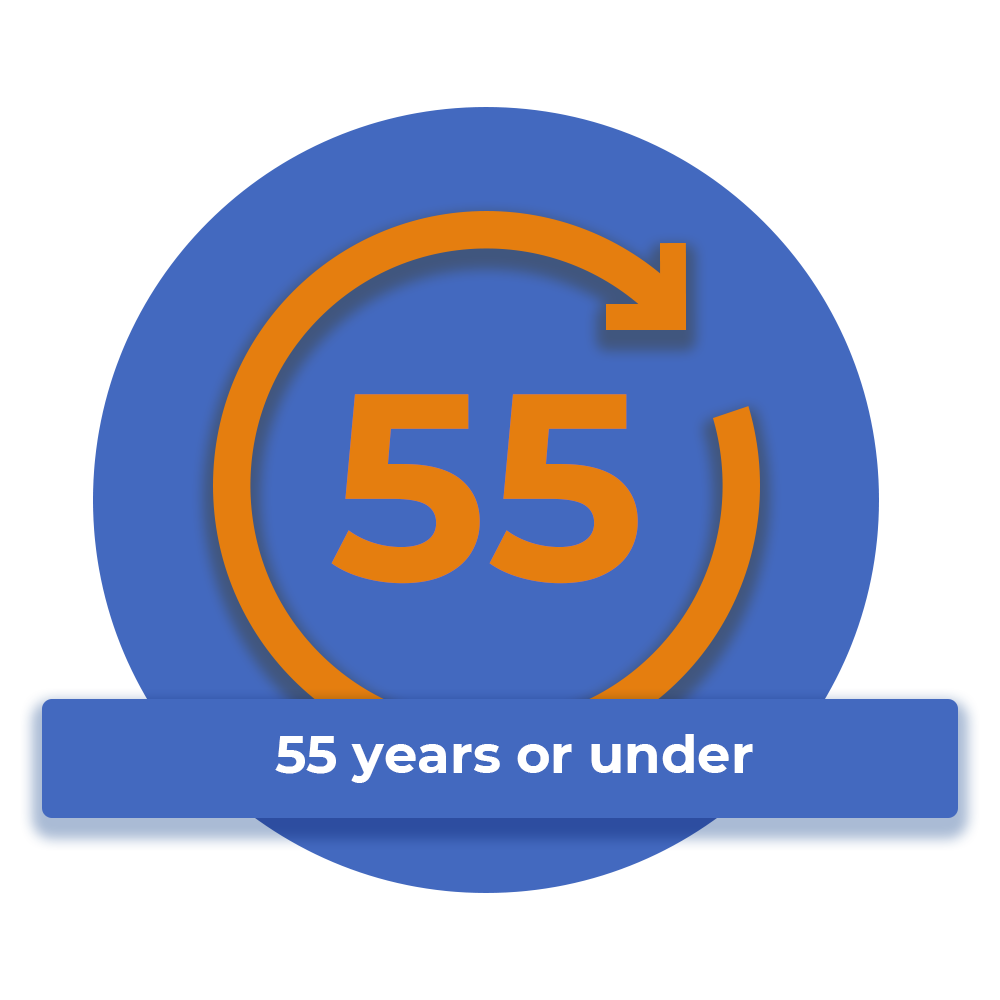 be 55 years or under