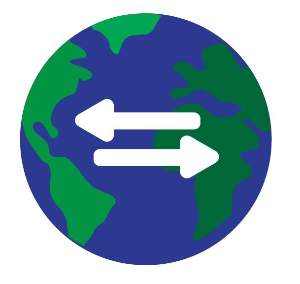 image showing transfer across globe