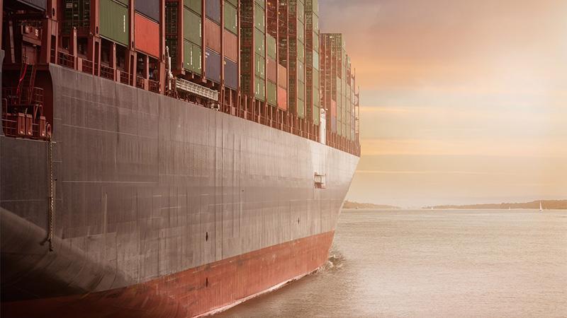 International cargo ship