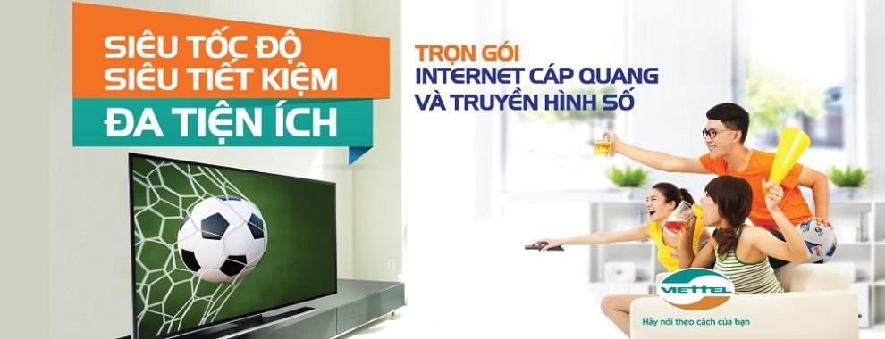 Trọn gói internet + truyền hình số Viettel, siêu tiết kiệm