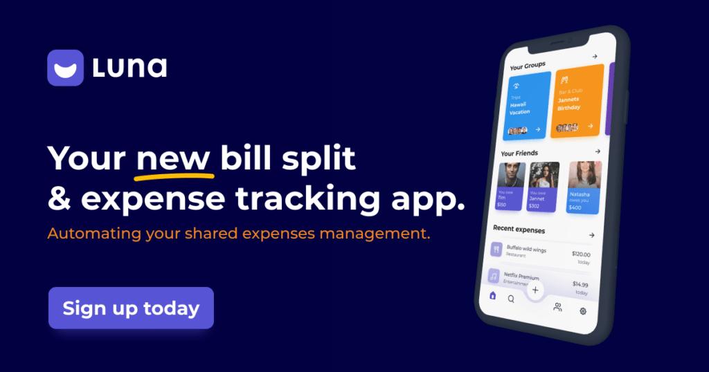 Your new bill split & expense trakcing app.