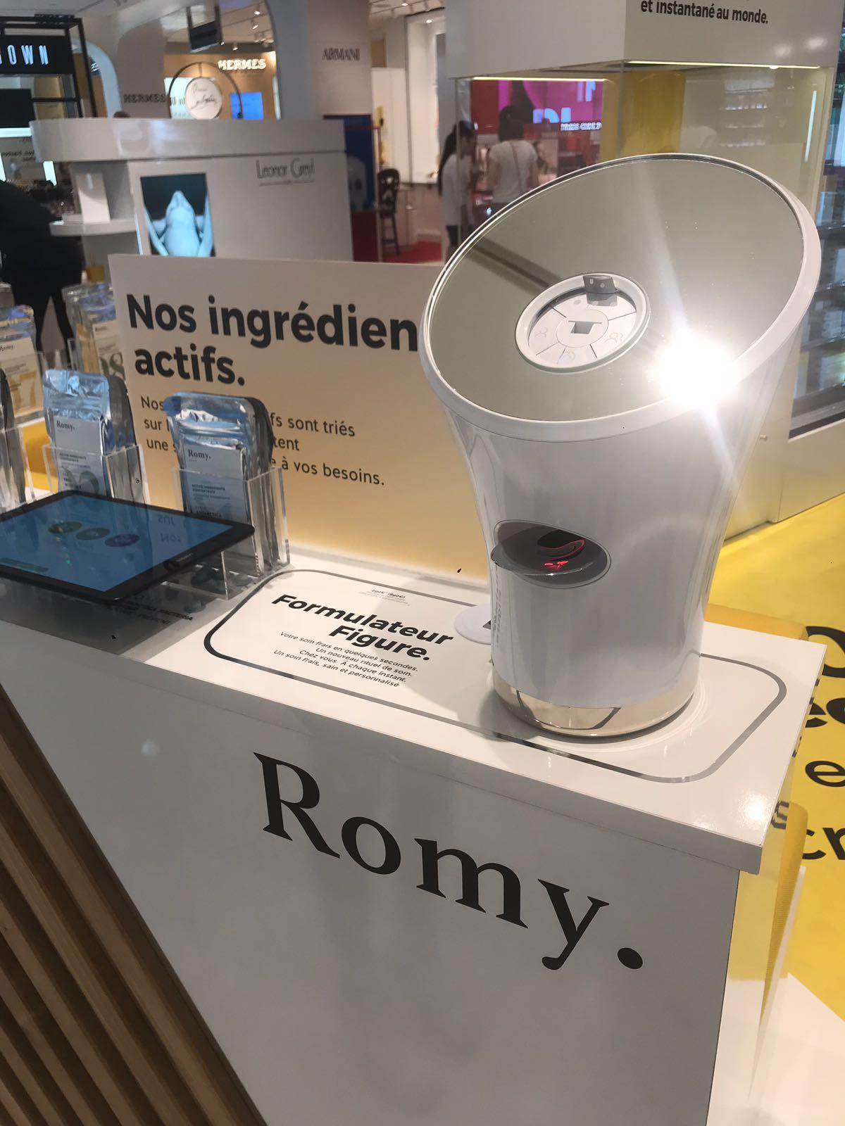 Pop-up store Romy : les soins personnalisés et instantanés