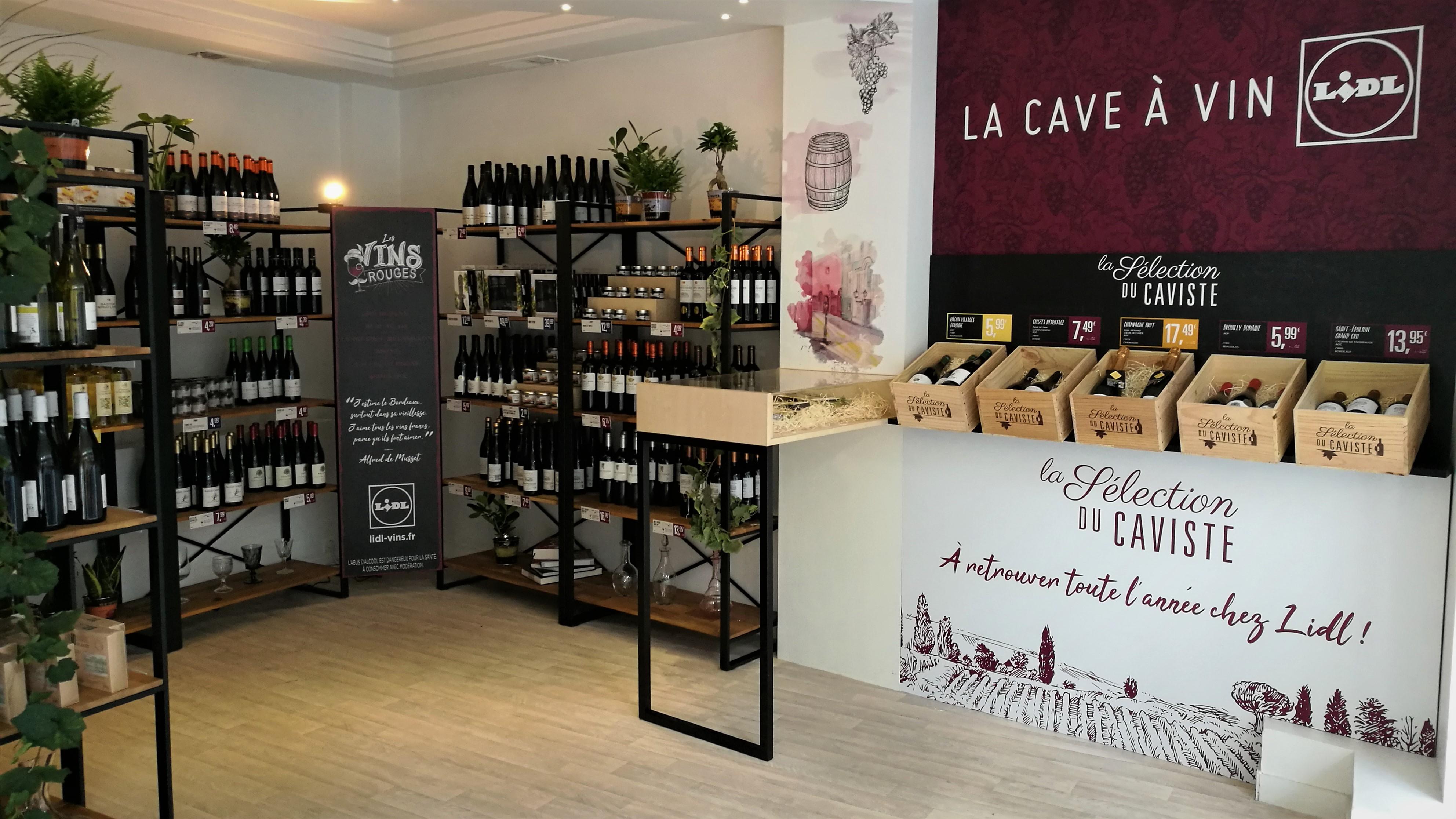 La cave à vin Lidl Pops en centre-ville
