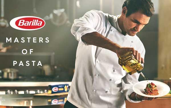 publicité égérie sportif Federer pour Barilla 2018