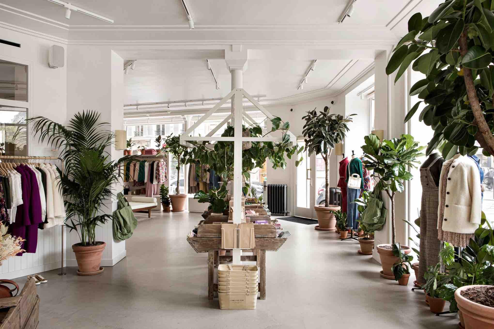 La nouvelle boutique libre service Sezane