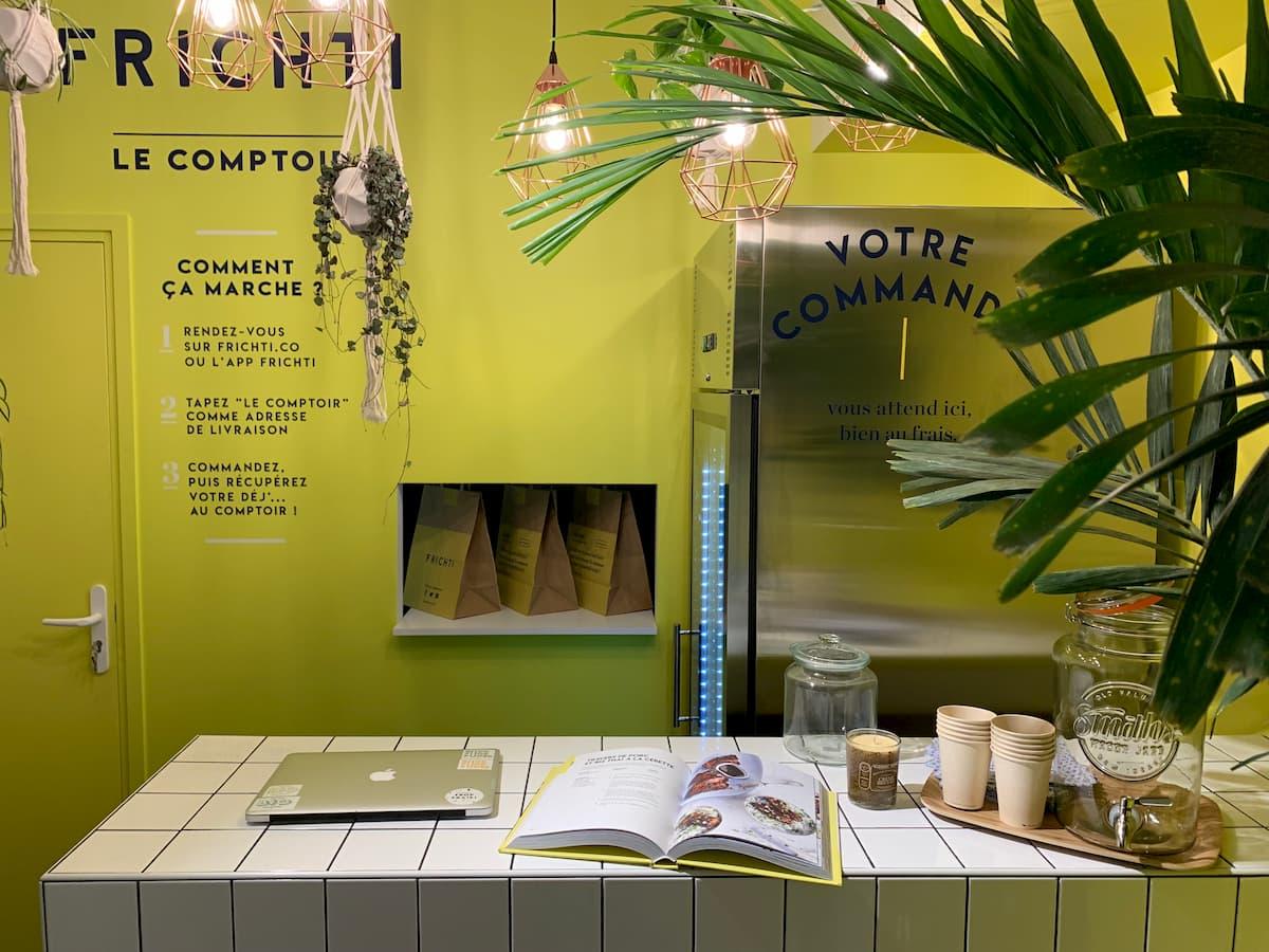 Click & Collect Frichti dans leur Comptoir Atelier