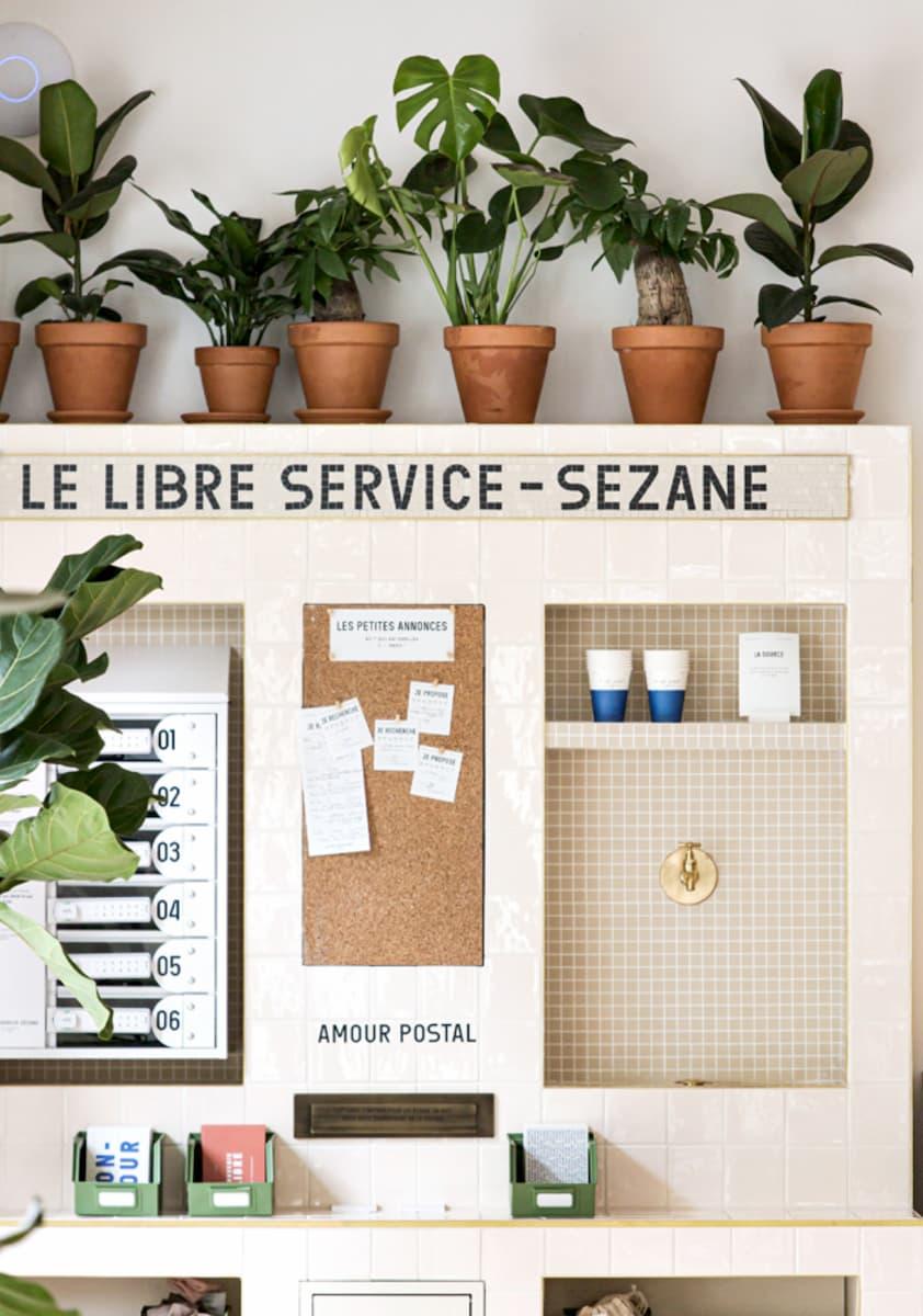 Services au sein du libre-service Sezane