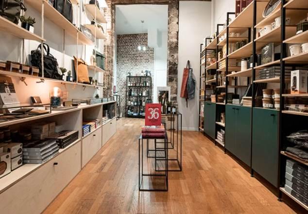 Intérieur d'une boutique Les Raffineurs