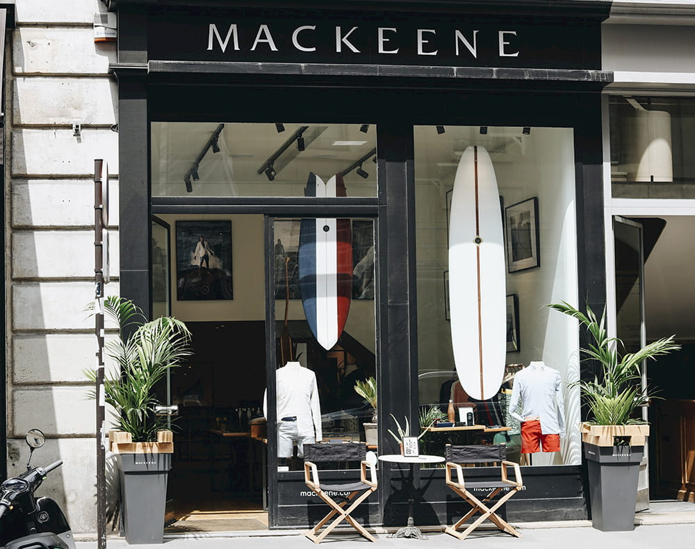 Vitrine pop up store Mackeene