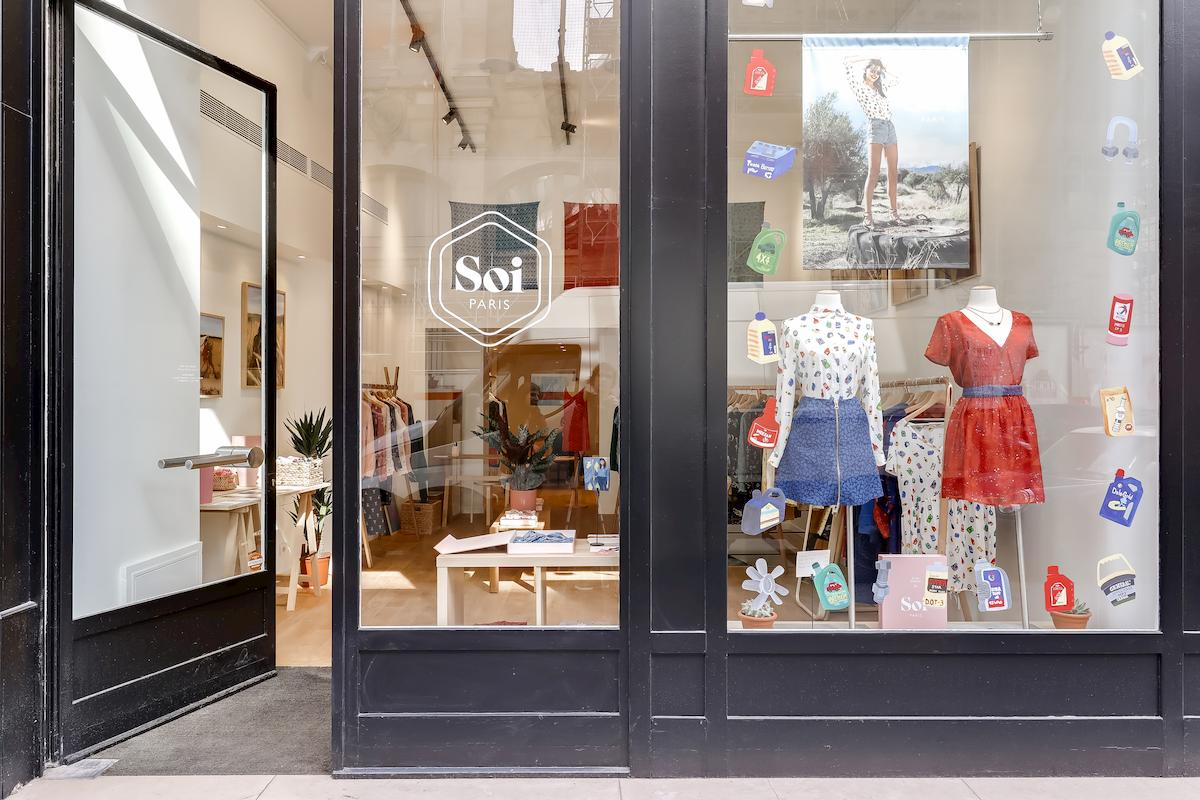 Vitrine pop up store Soi Paris, Etienne Marcel