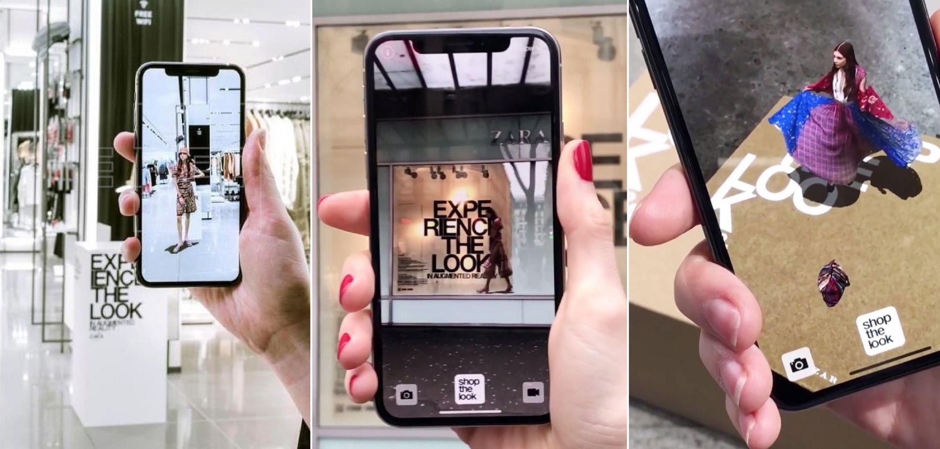 mannequin virtuel zara et réalité augmenté