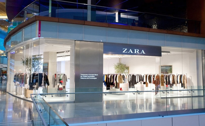 Click & Collect Zara, centre commercial Westfield à Stratford