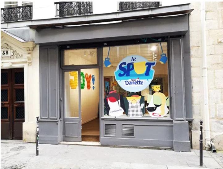 Pop up store Danette, sPOT ©Lapromessedunstyle