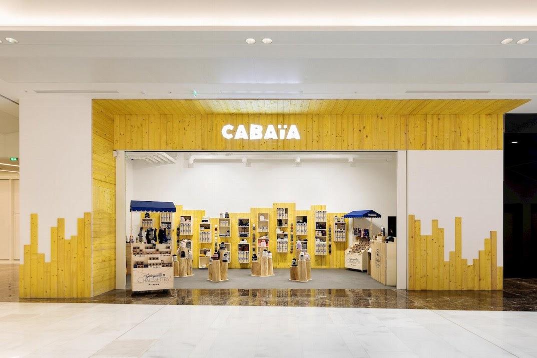 Pop up store Cabaïa dans un centre commercial