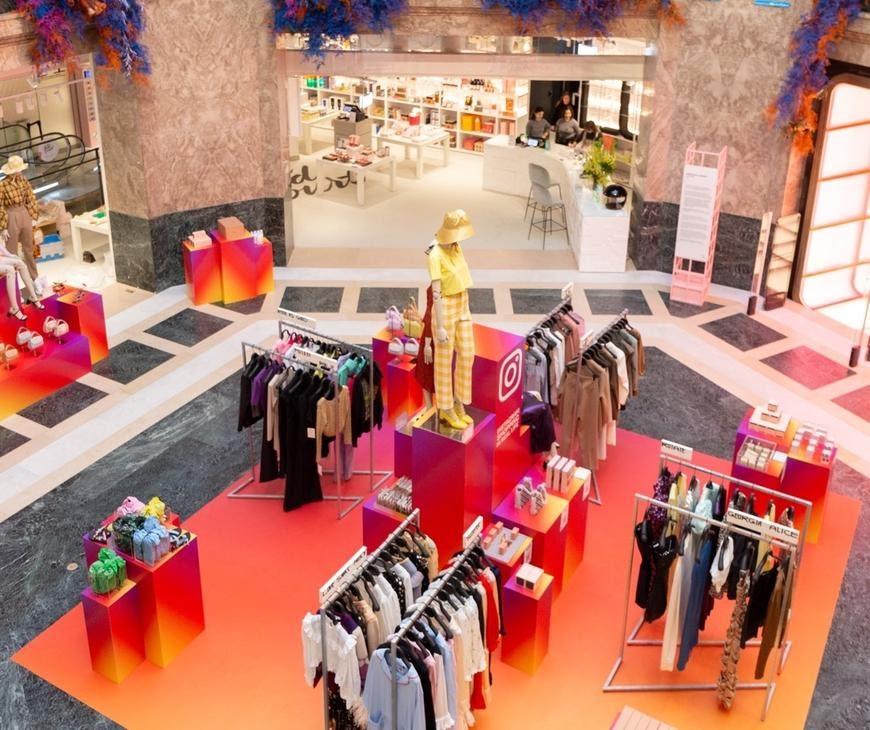 Pop up store Instagram aux Galeries Lafayette
